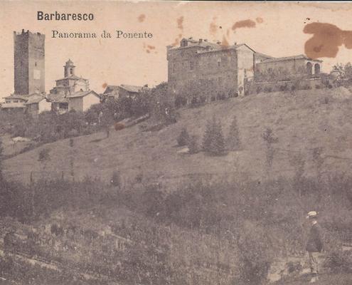 Barbaresco 1920 - Cartolina veduta da ponente