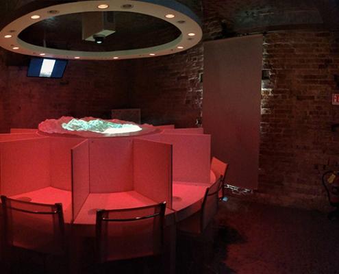 Sala dei 5 sensi all'interno della Torre di Barbaresco